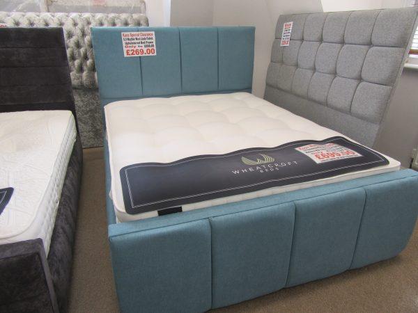 5.0 Mayfair Wool Jade Fabric Upholstered Bed Frame