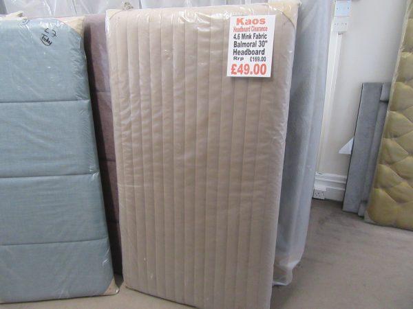 "4.6 Mink Fabric Balmoral 30"" Headboard"