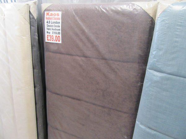 4.6 Chocolate Chenille London Fabric Headboard